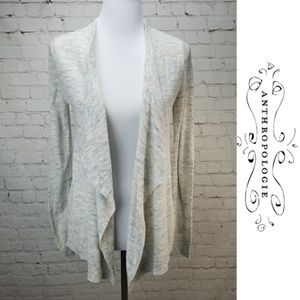 🦌LOFT🦌 Cardigan Drape Oatmeal Long Sleeve